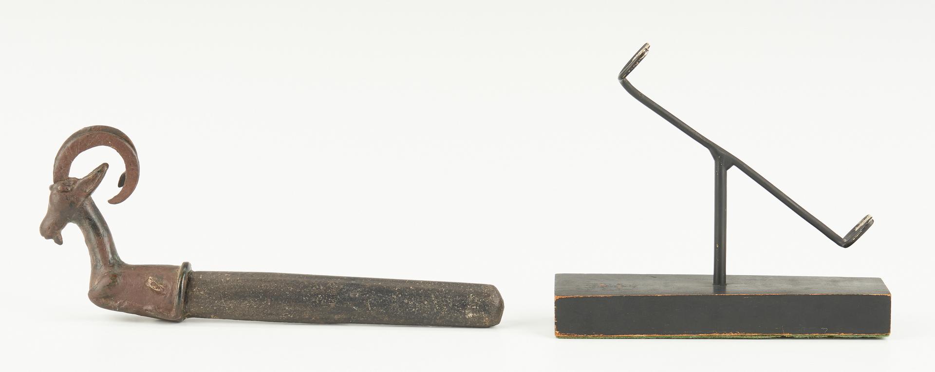 Lot 28: Luristan Whetstone with Bronze Ibex Handle