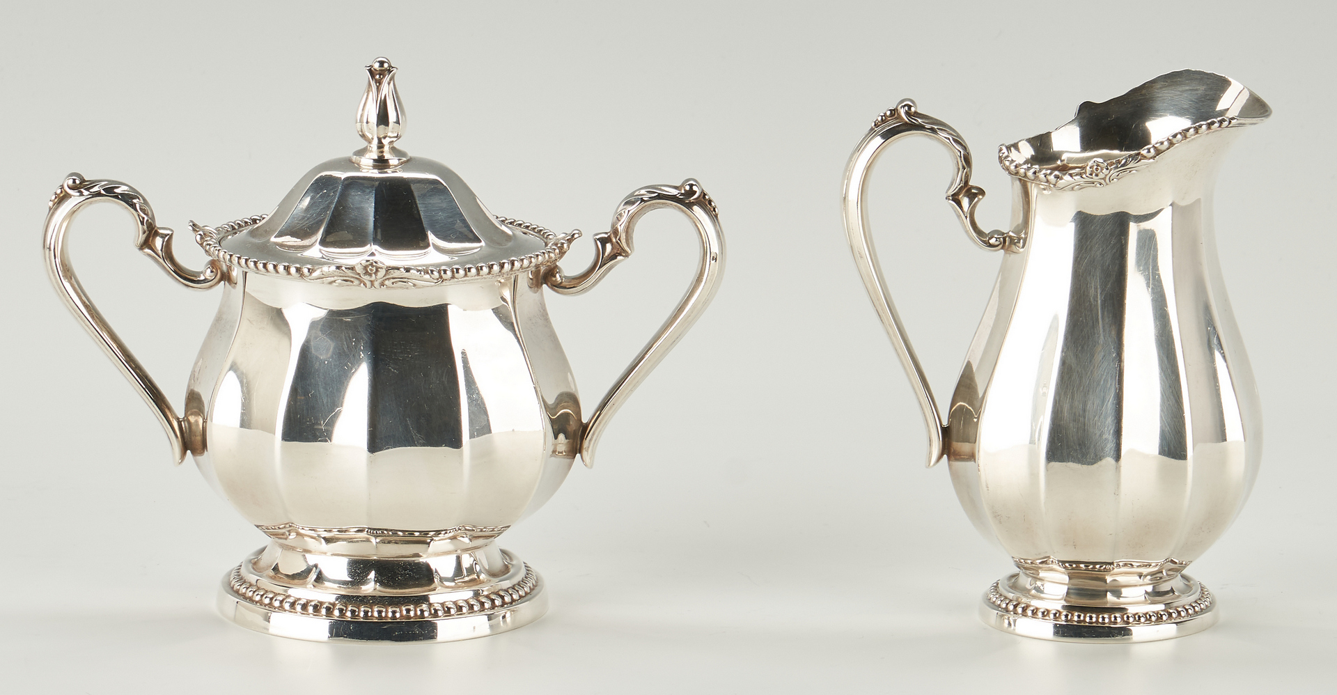 Lot 290: International Sterling Tea Set & Oval Tray, 5 Pcs.