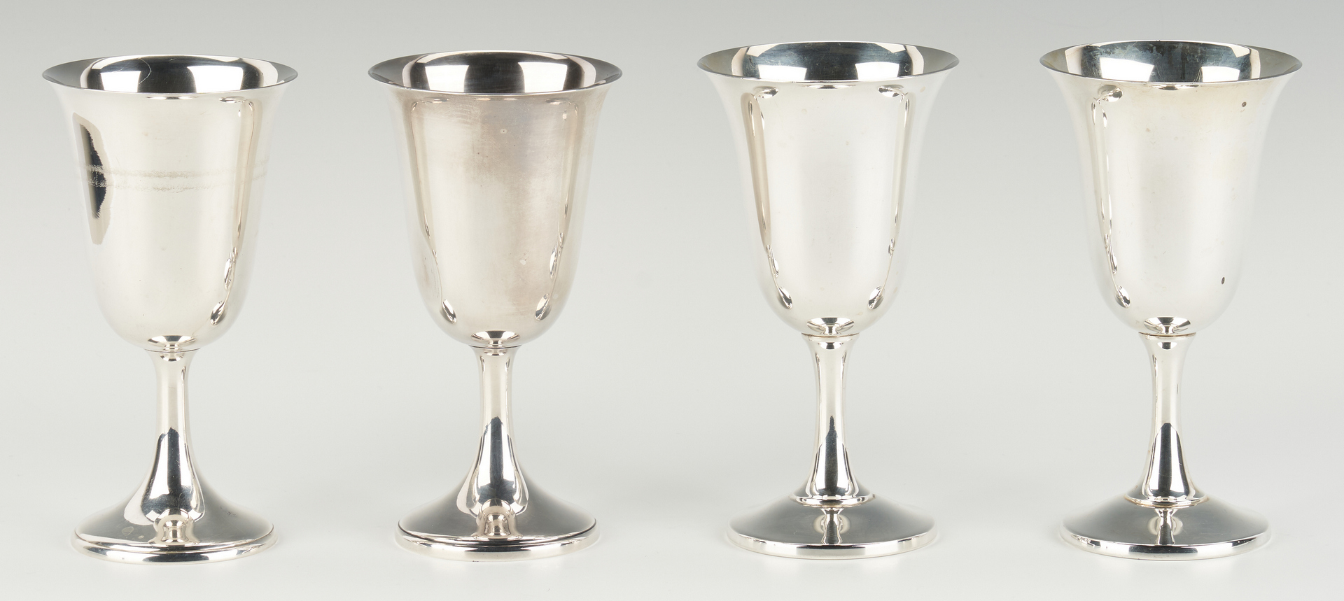 Lot 291: 11 Sterling Water Goblets, incl. Wallace & Watrous