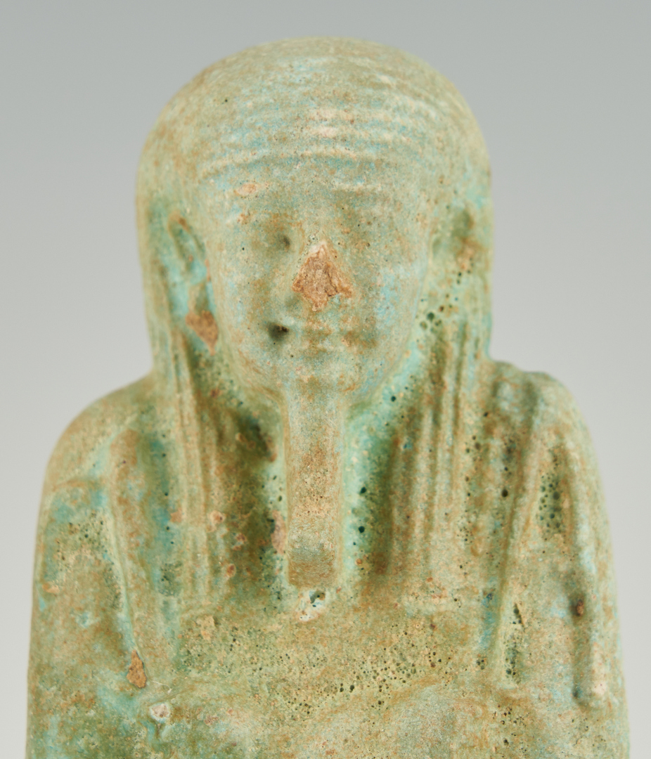 Lot 29: Egyptian Faience Ushabti