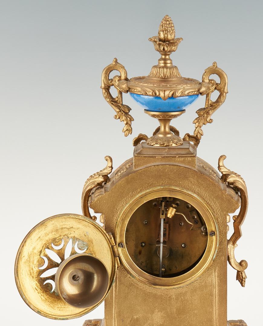 Lot 302: 2 French Clocks & Framed Art Pottery Tile