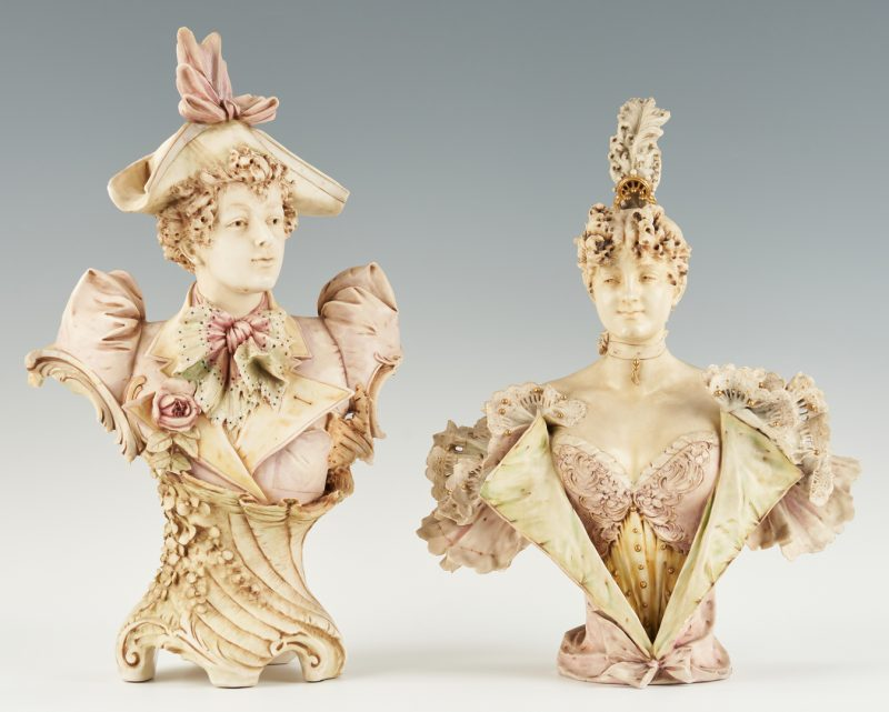 Lot 303: 2 Amphora Porcelain Busts incl. Stellmacher