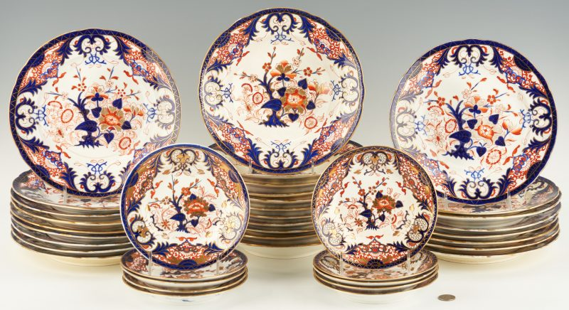 Lot 306: 38 Royal Crown Derby Porcelain Kings Pattern Dinnerware Pieces