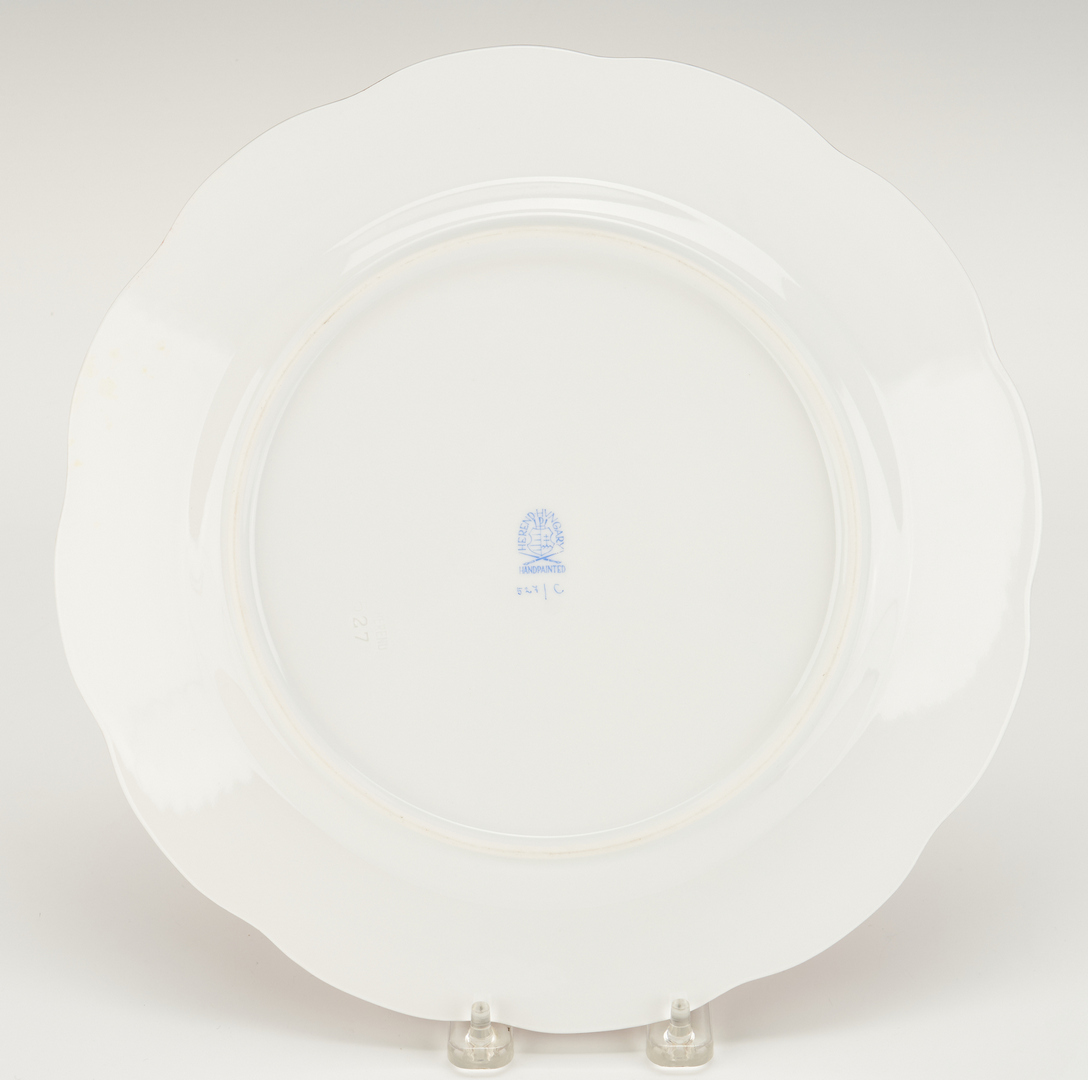 Lot 311: 16 Herend Porcelain Chargers, Hubay Pattern