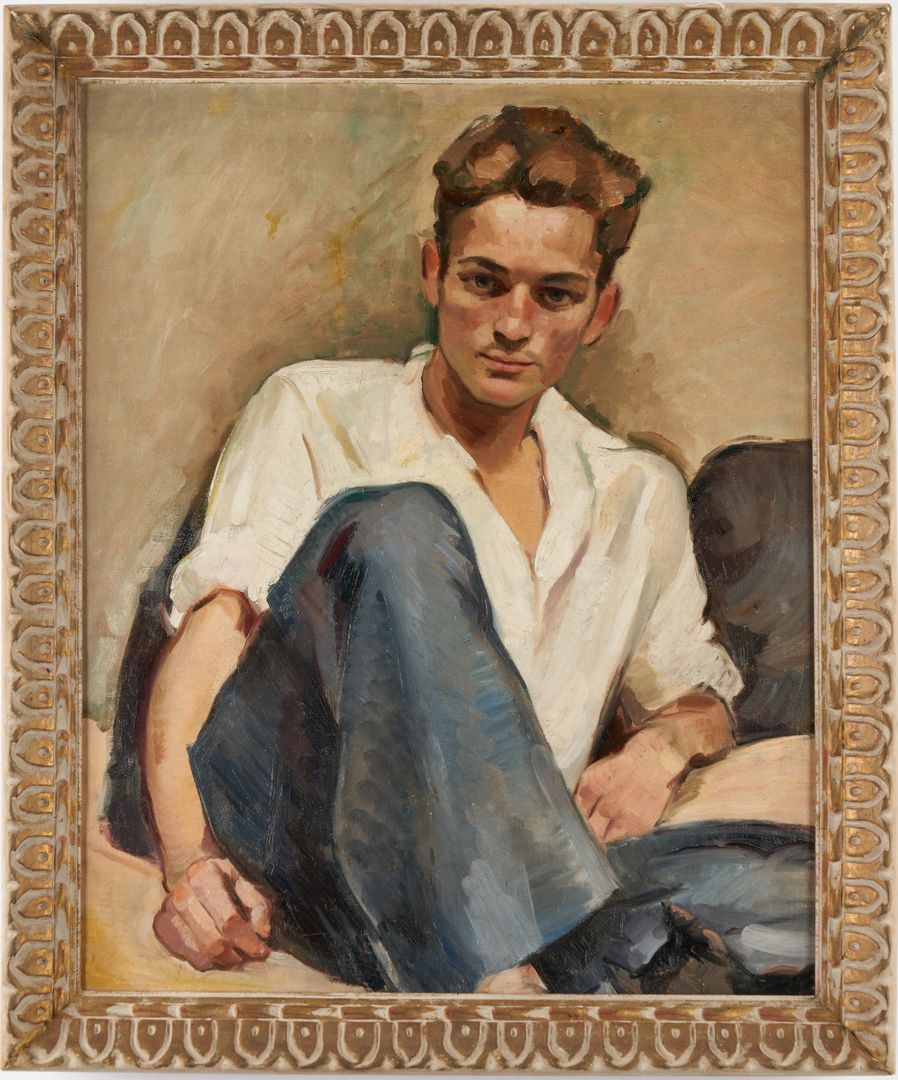 Lot 319: Phillip Perkins O/C Painting, French Sailor