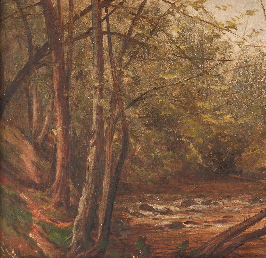 Lot 324: Oil on Board Landscape, attrib. Thomas Campbell