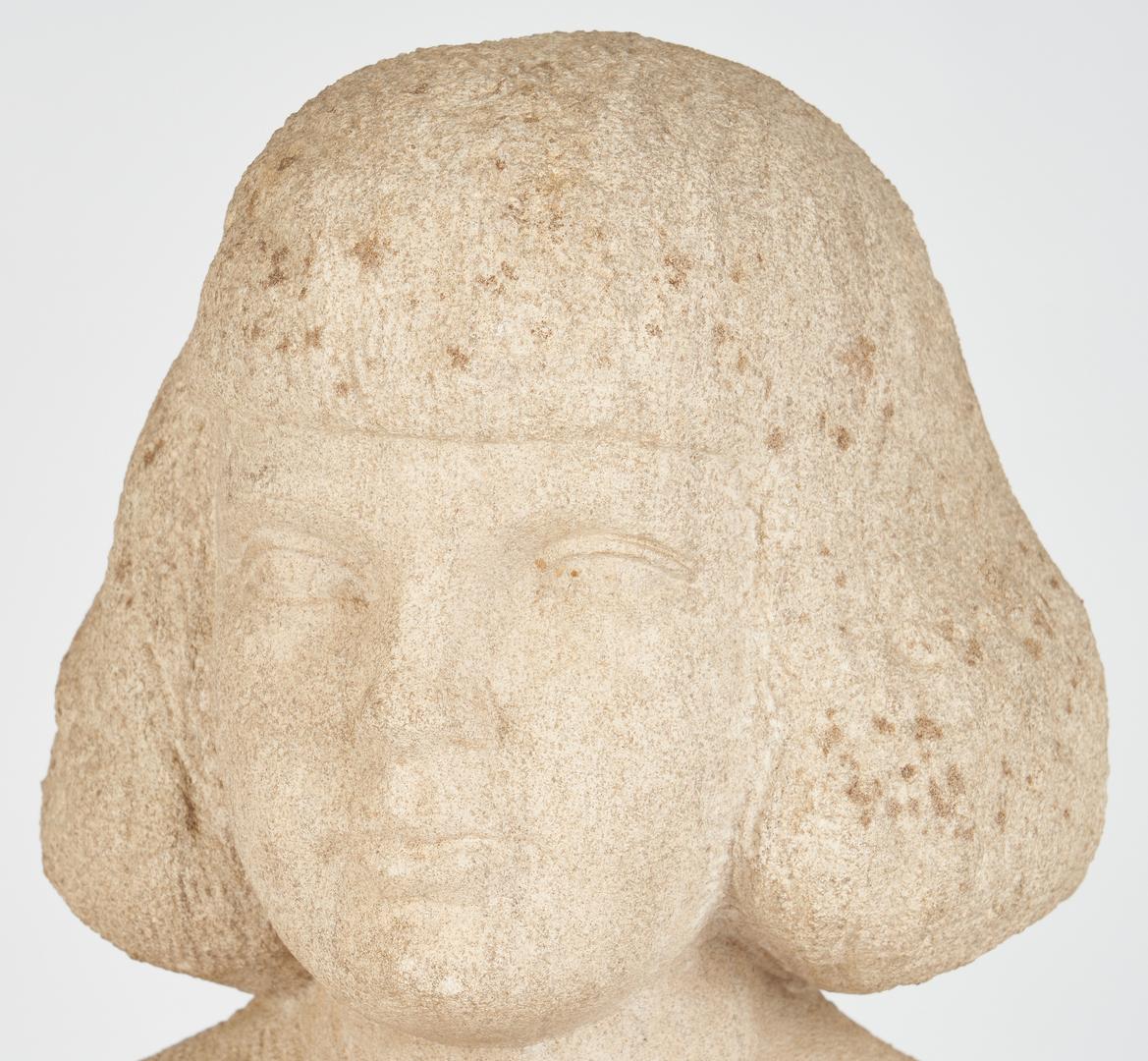 Lot 325: Puryear Mims Limestone Sculpture & Plaster Bust