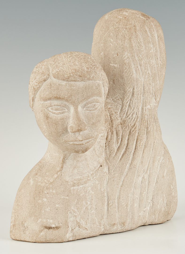 Lot 326: Limestone Sculptures, attrib. Puryear Mims