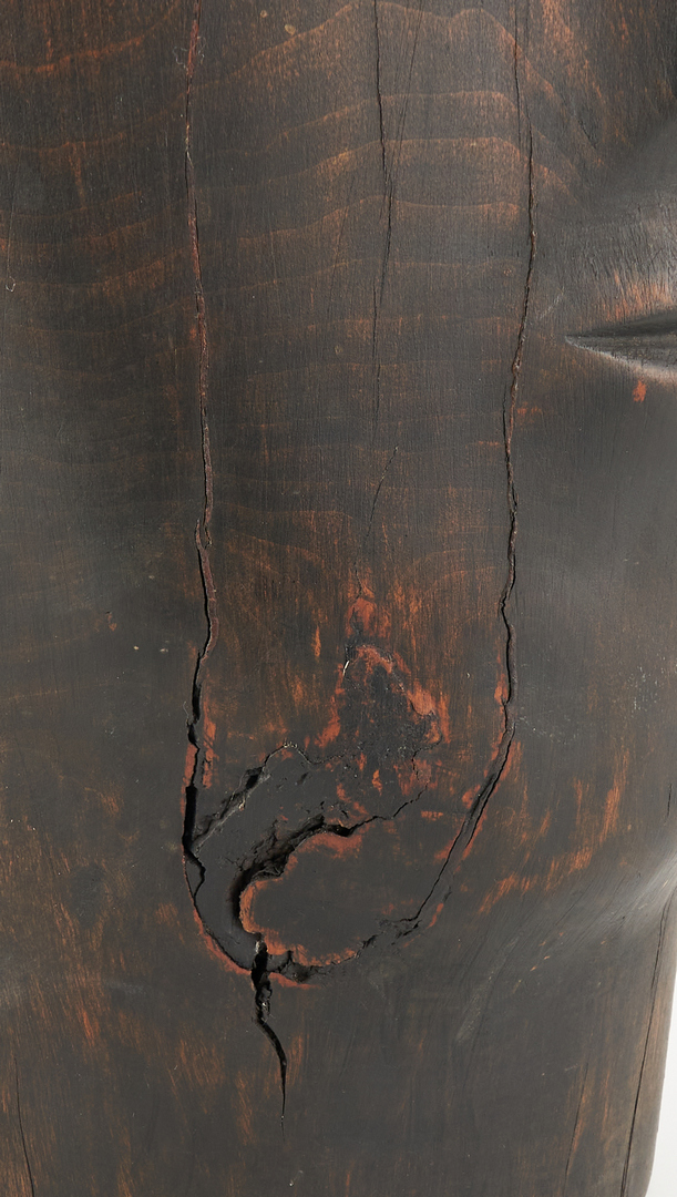 Lot 327: Olen Bryant Wood Sculpture of head