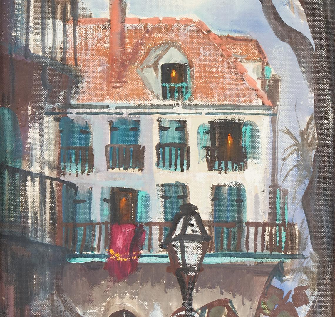 Lot 333: Pr. Oil on Board New Orleans Paintings, Heldner