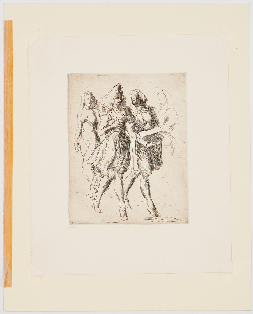 Lot 340: 2 Reginald Marsh Prints, Minsky's New Gotham Circus & Two Girls