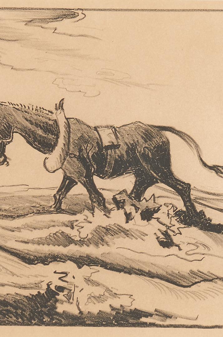 "Lot 341: Thomas Hart Benton Lithograph, ""Plowing It Under"""