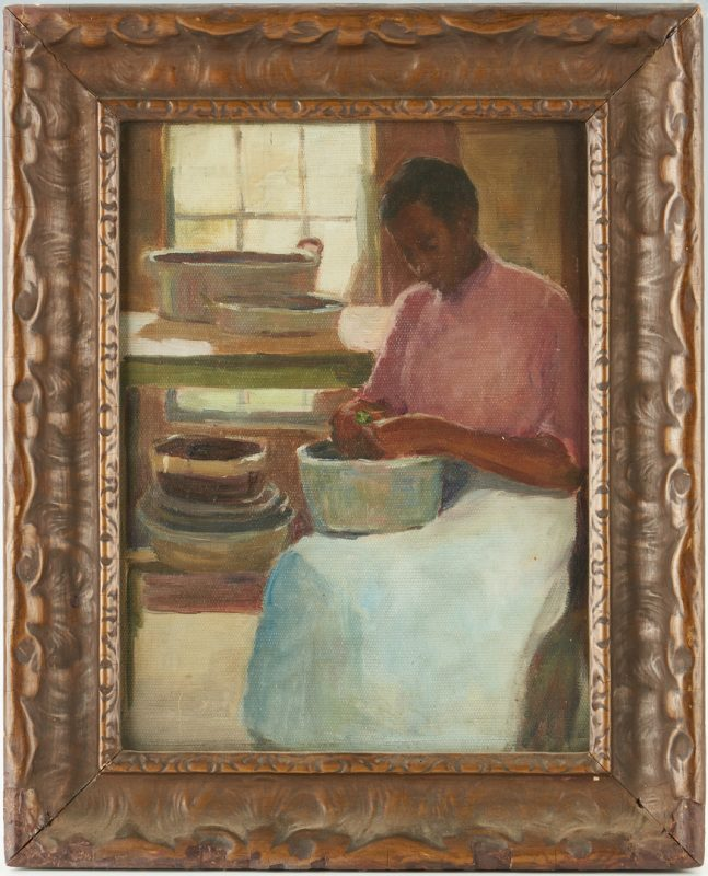 Lot 343: American School Portrait of an African American Woman