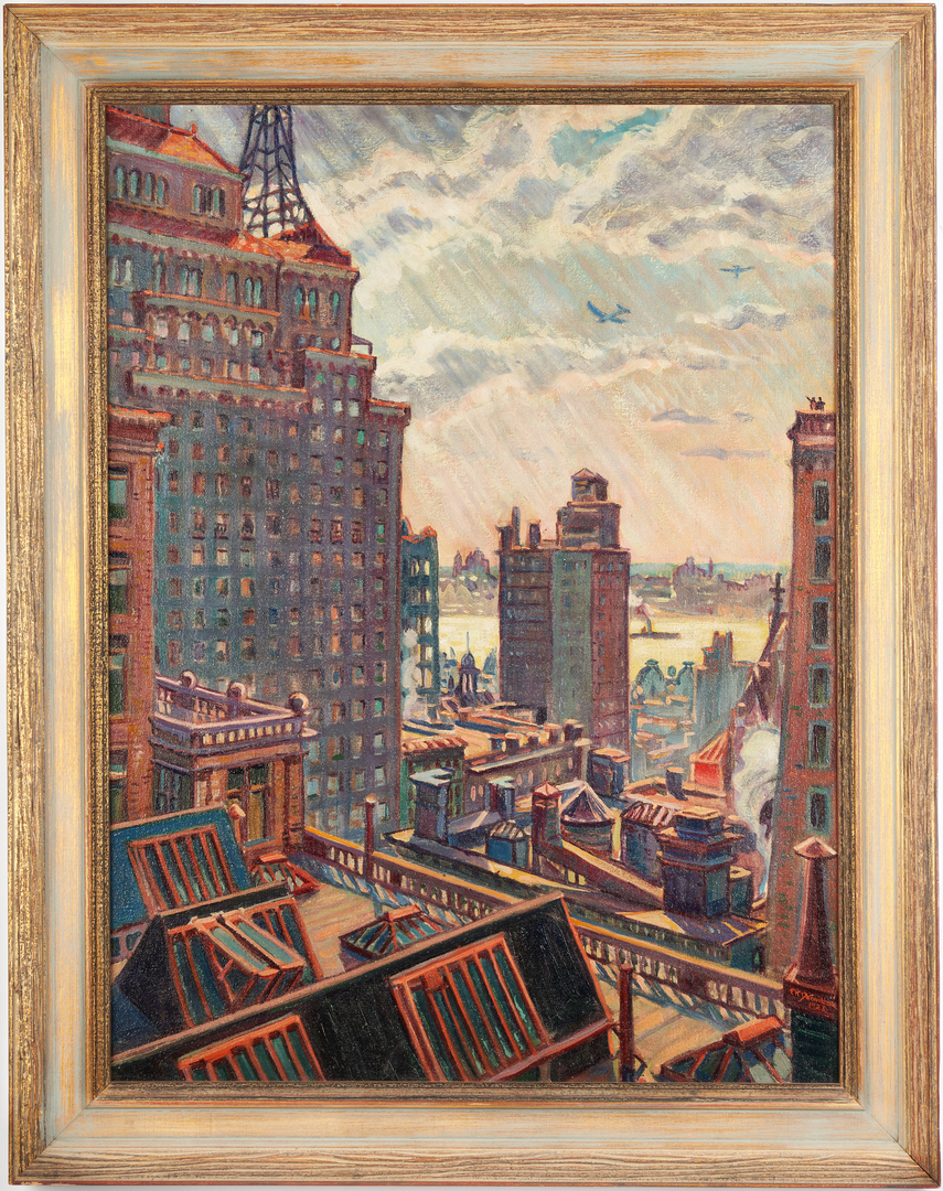 Lot 346: Frederick Detweiller O/C, N.Y.C. From Carnegie Hall