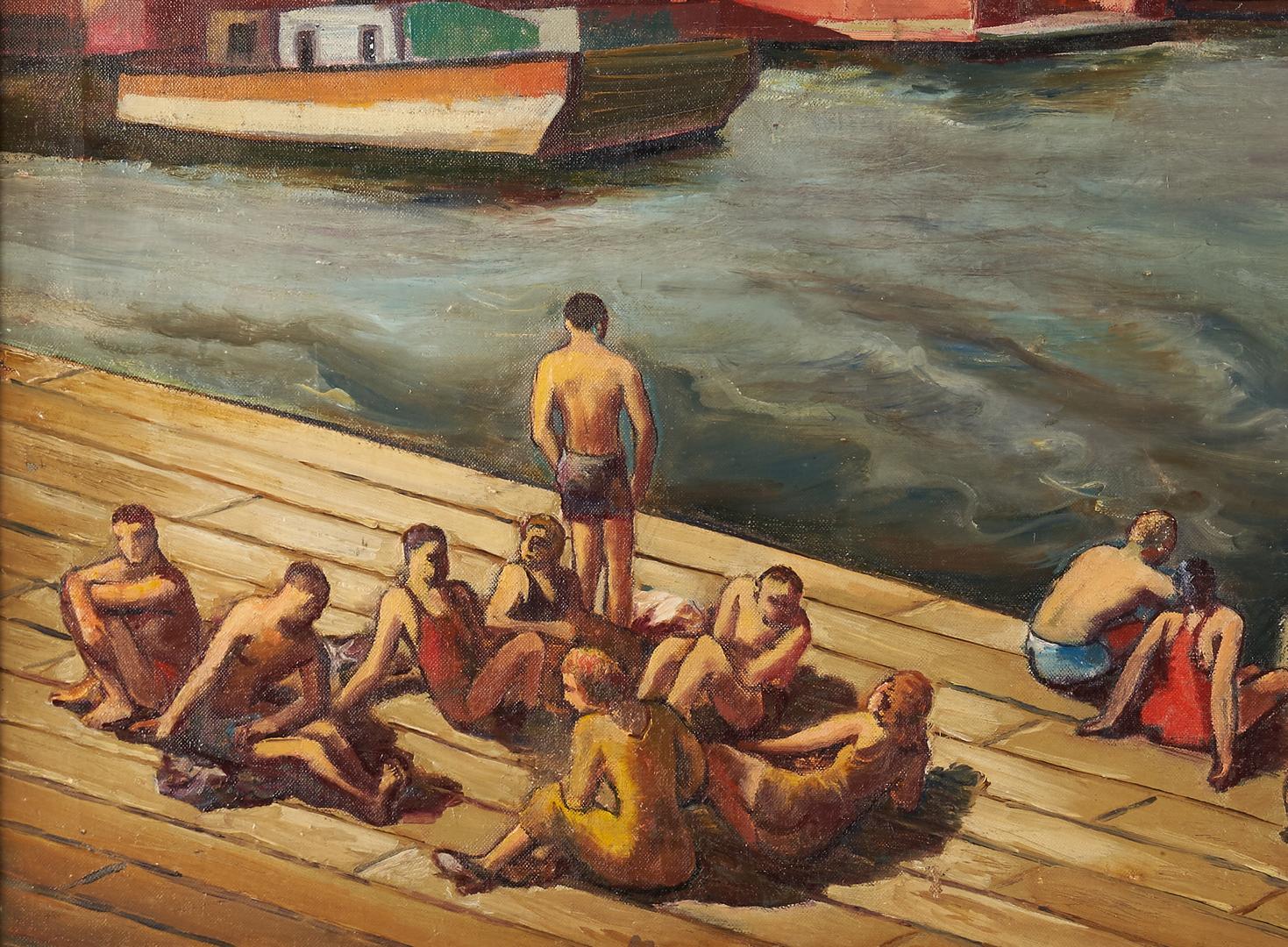 Lot 347: Joseph Cain O/C, New York Harbor