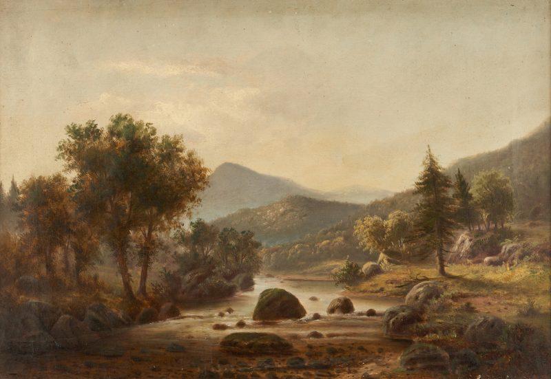 Lot 348: 19th c. Landscape attr. Marcus Mote