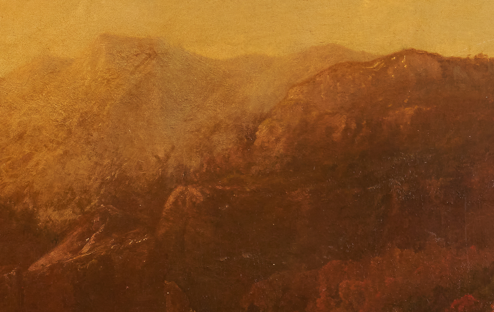 Lot 350: Hudson River School Autumn Landscape