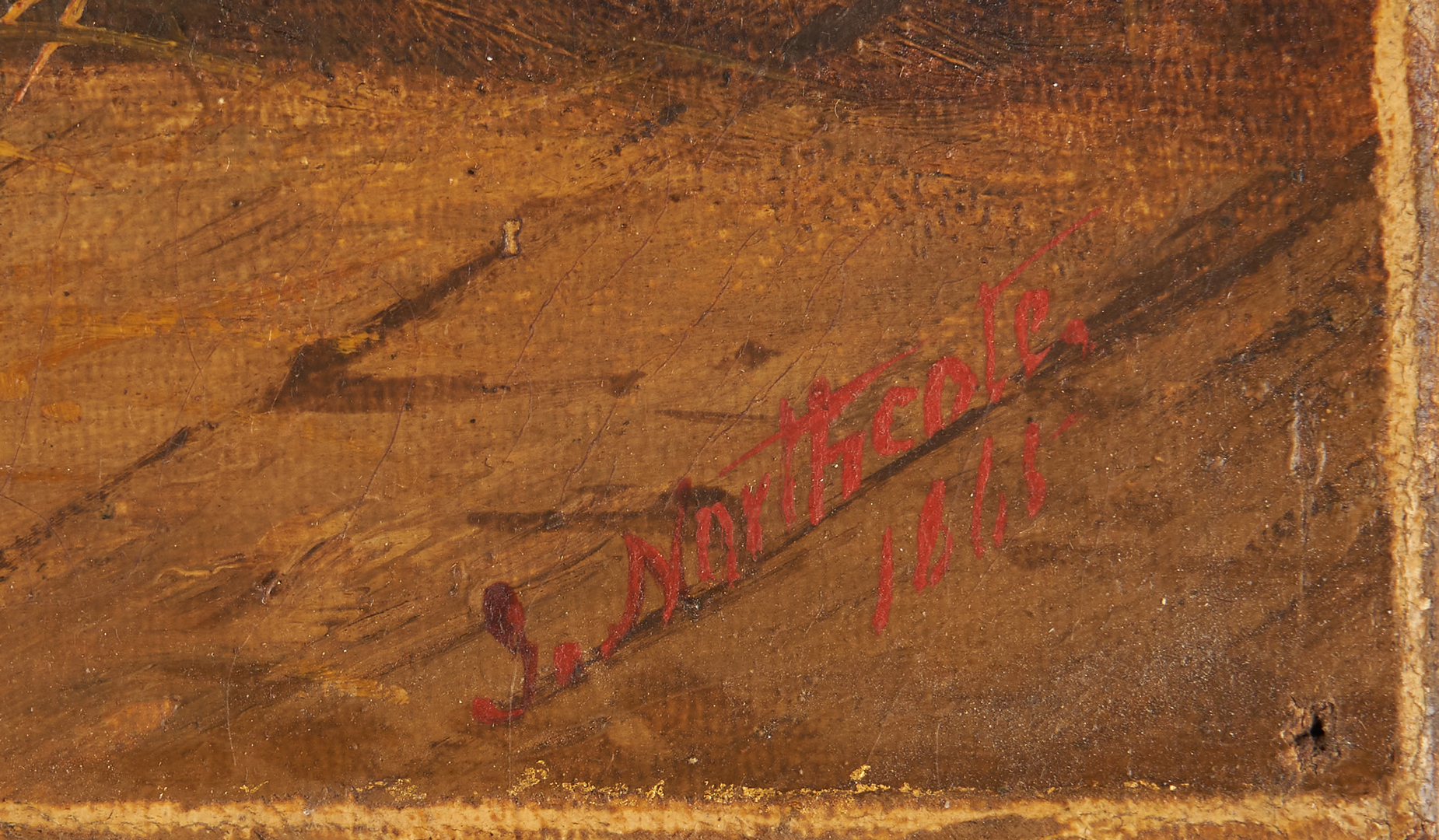 Lot 352: James Northcote O/C painting of dogs