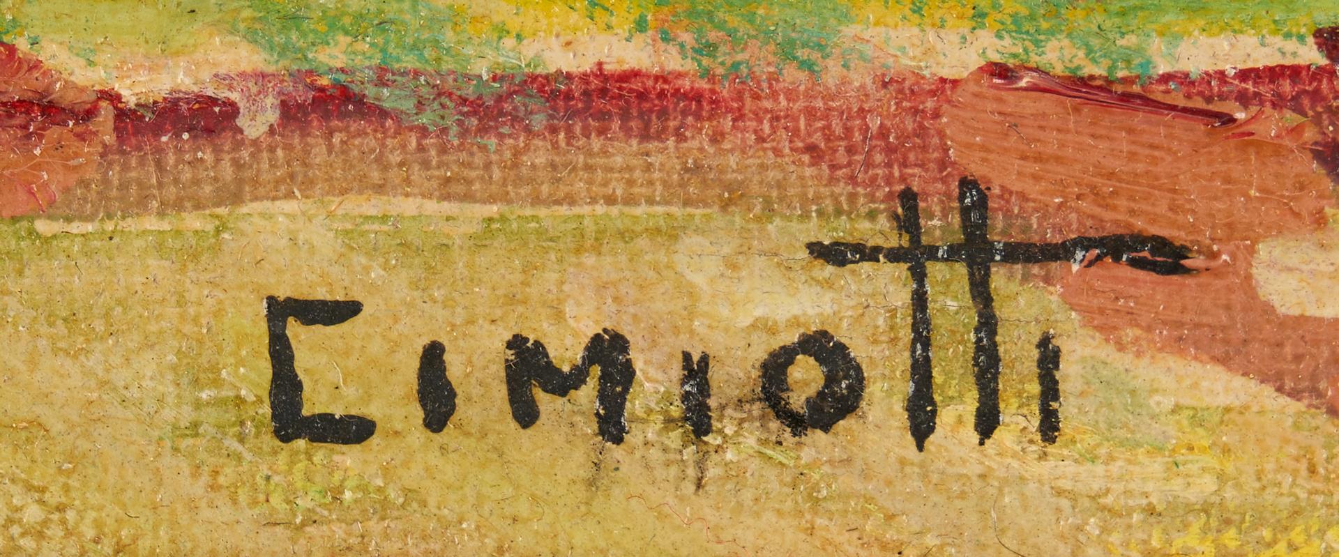 Lot 361: Exhibited Gustave Cimiotti, Jr. O/B Landscape, Farm Amongst Hills