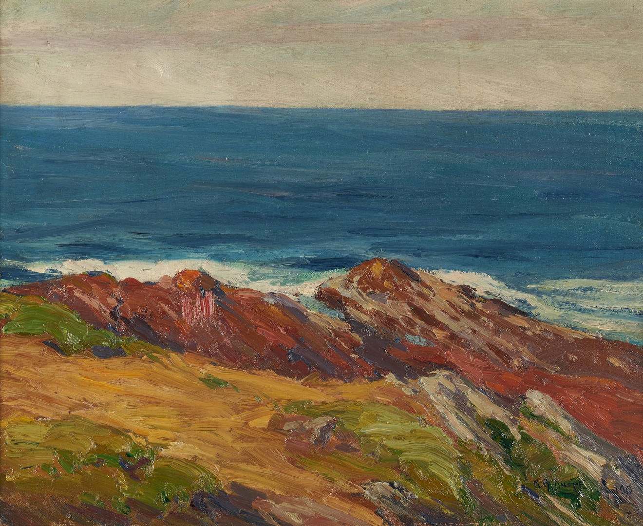 Lot 362: Nellie Augusta Knopf O/C, Ogunquit, Maine