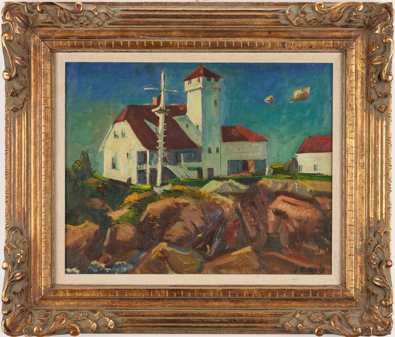 Lot 363: John Ellsworth Weis O/C Landscape, poss. Provincetown, MA