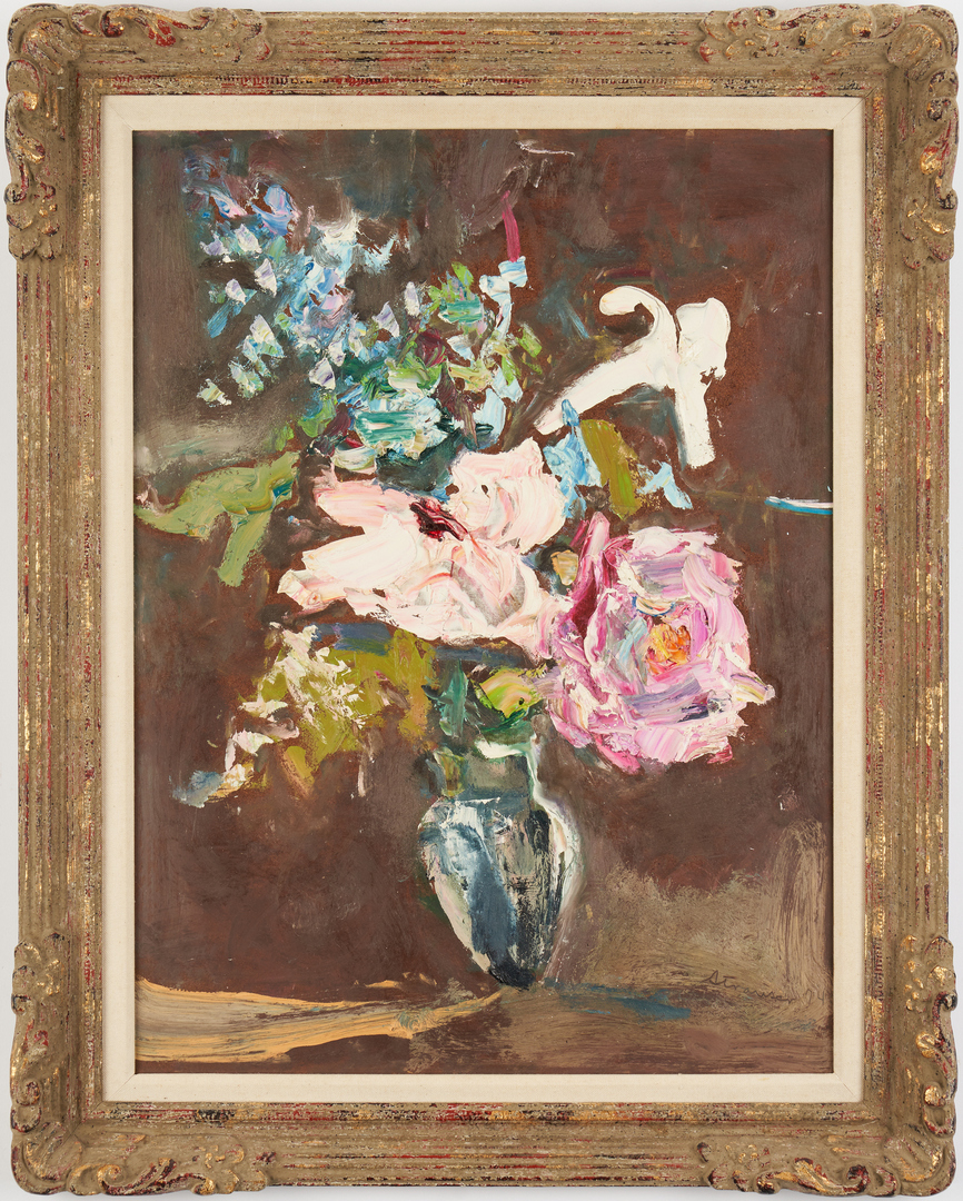 Lot 368: Sterling Strauser O/B, Floral Still Life