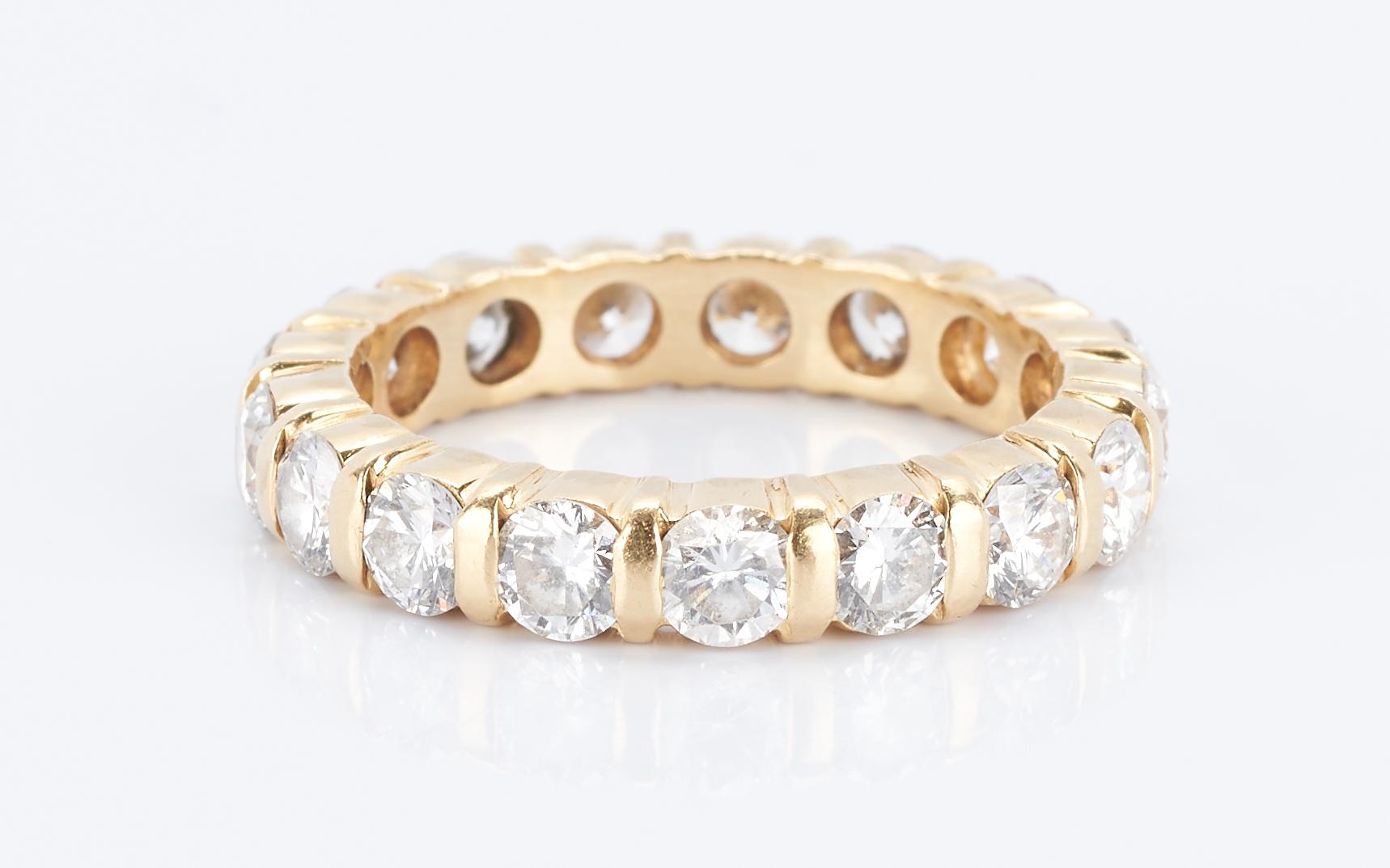 Lot 36: Cartier Ladies Diamond Eternity Ring