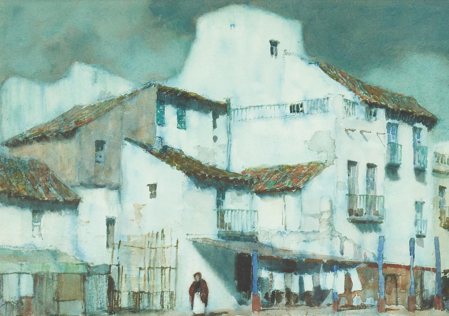 Lot 373: Albert Foweraker W/C Landscape, Algeciras