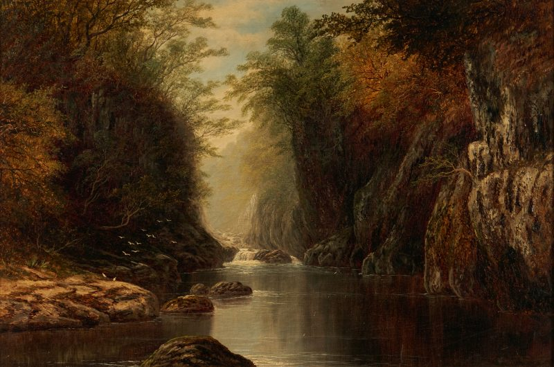 Lot 374: Edmund Niemann O/C Mountain Landscape