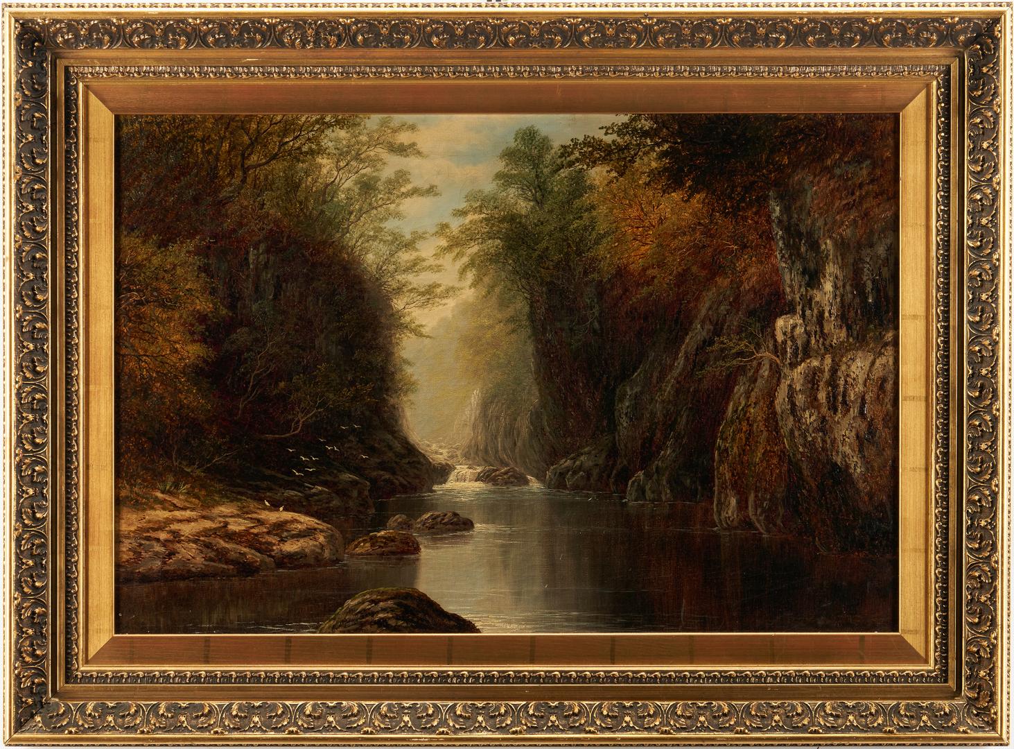 Lot 374: Edmund Niemann O/C Mountain Landscape