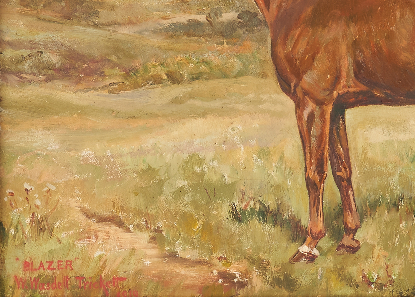 Lot 376: 2 British O/C Horse Portraits by Collier, Trickett