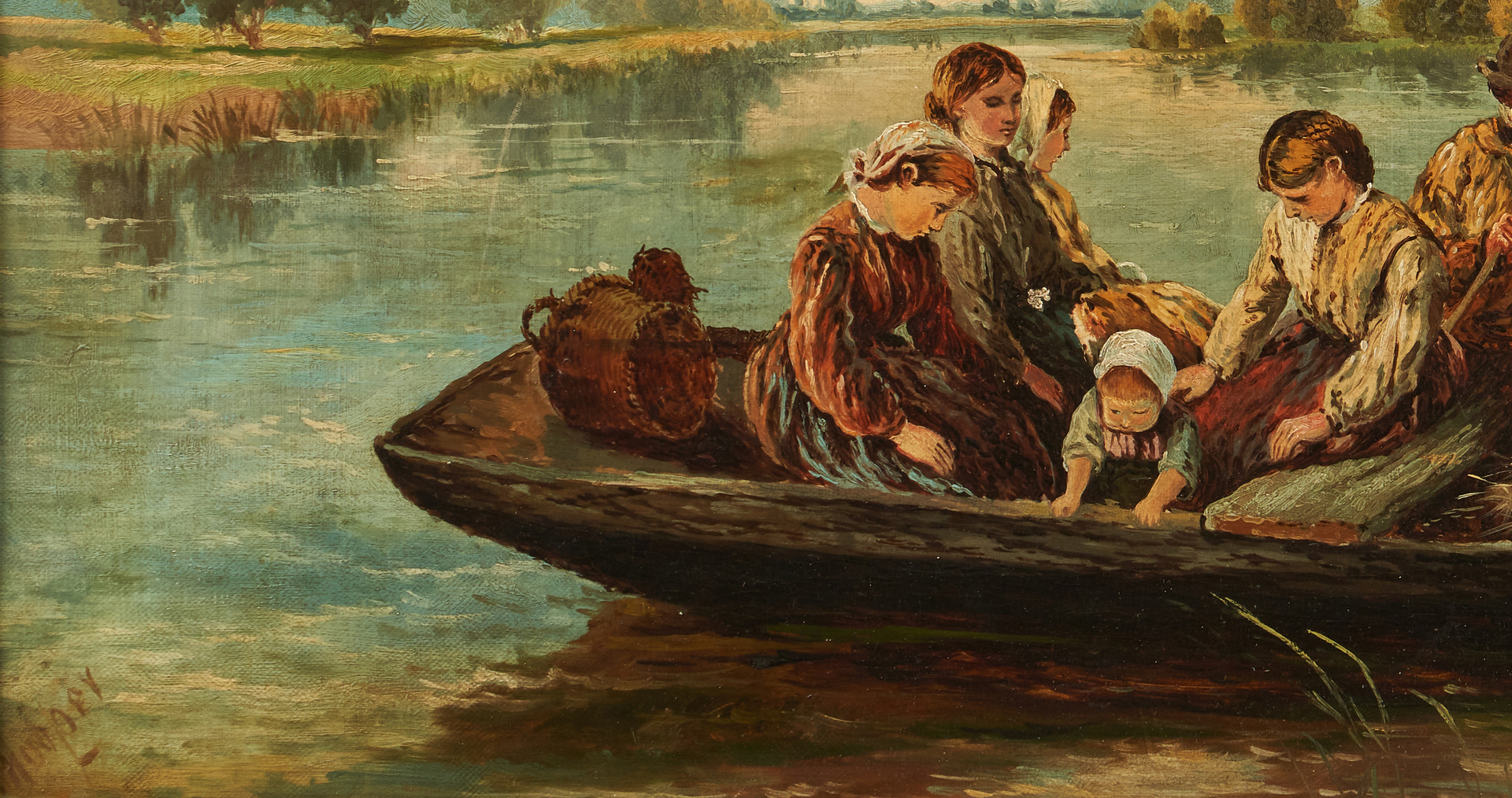 Lot 377: J. H. Hooper O/C Painting, Grandfather's Boat