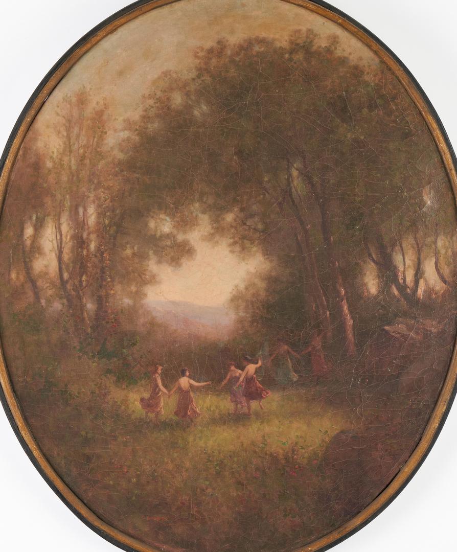 Lot 380: Carl Muller Oil on Canvas, Dancing Females