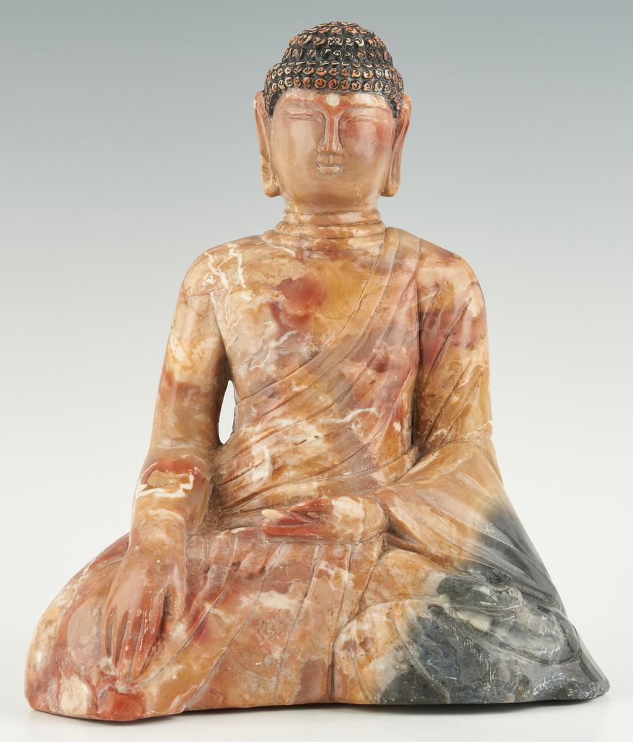 Lot 386: Asian Carved Hardstone Buddha Figure
