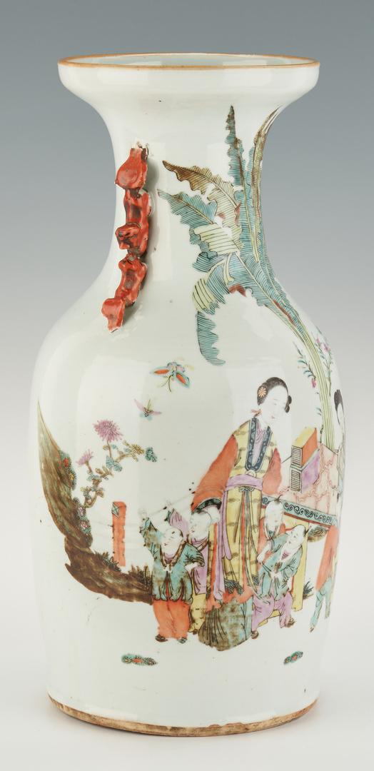 Lot 392: Chinese Famille Rose Porcelain Vase