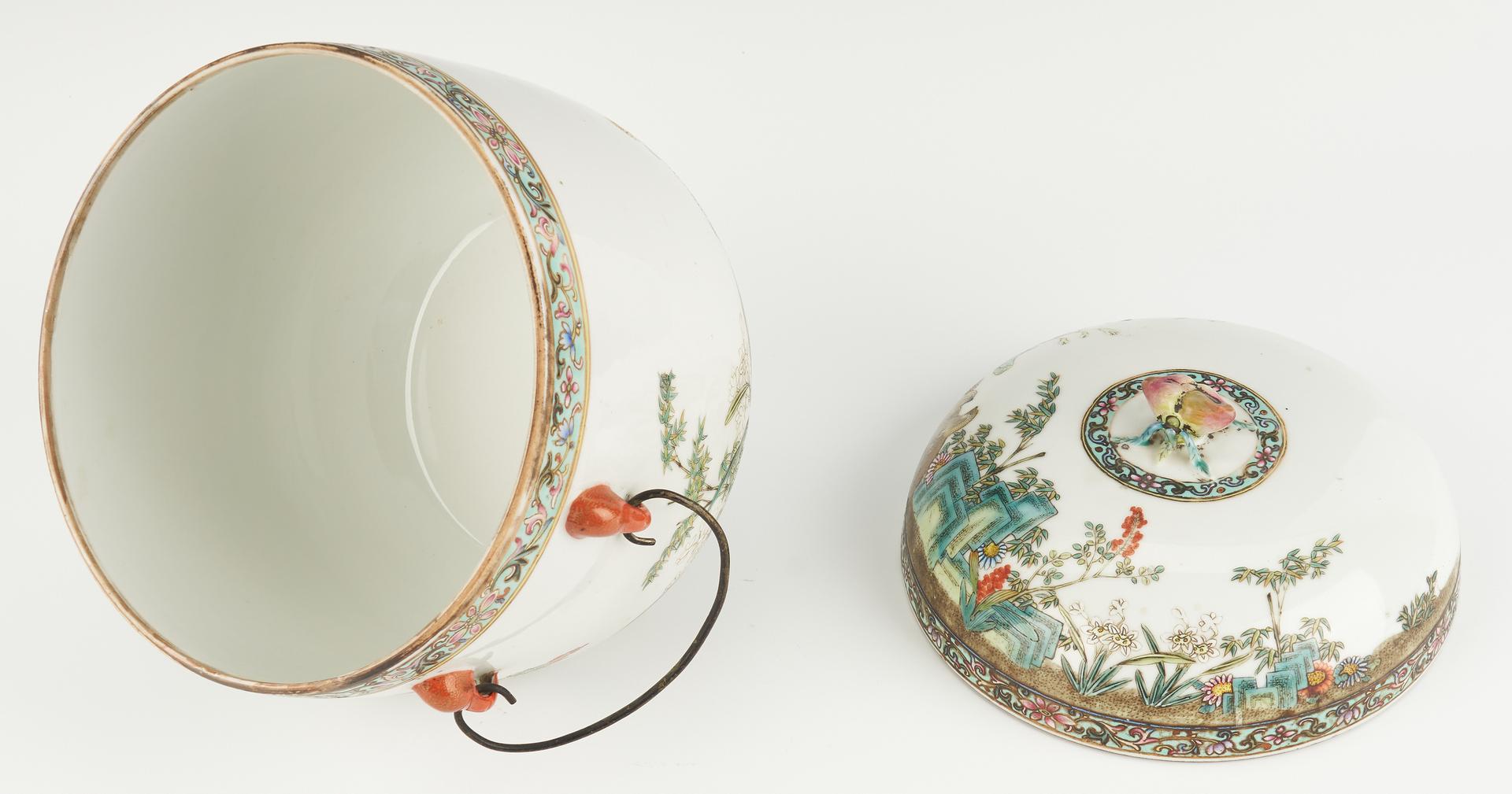Lot 395: Chinese Famille Rose Porcelain Fruit Cooler