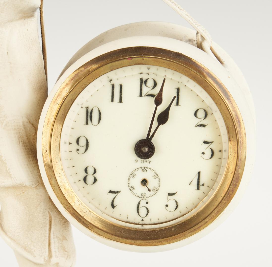 "Lot 399: Ansonia Novelty #807 ""Whistling Boy"" Clock"