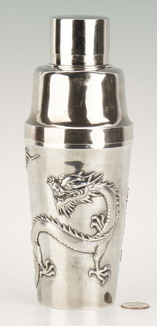 Lot 3: Chinese Export Silver Cocktail Shaker