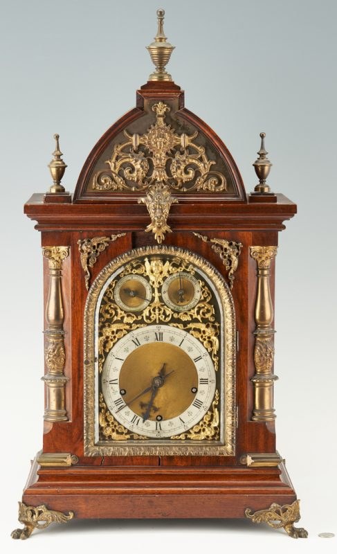 Lot 400: Continental Musical Bracket Clock w/ Bronze Mounts