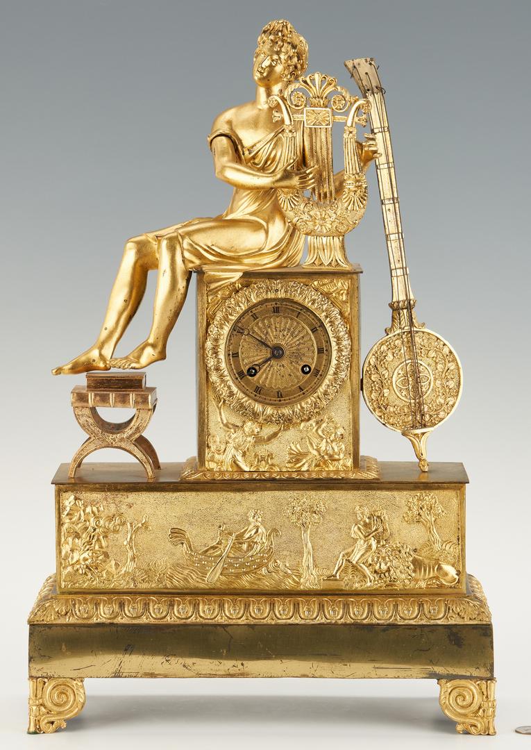 Lot 401: French Ormolu Figural Clock, Music Theme