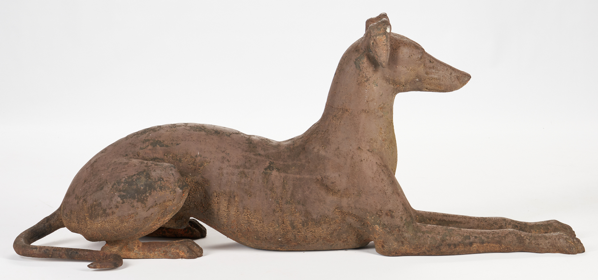 Lot 405: Large Cast Iron Greyhound, attr. J.W. Fiske
