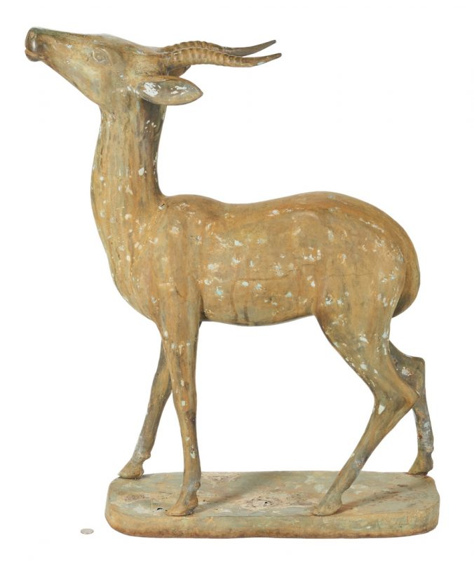 Lot 406: Bronze Garden Antelope Sculpture