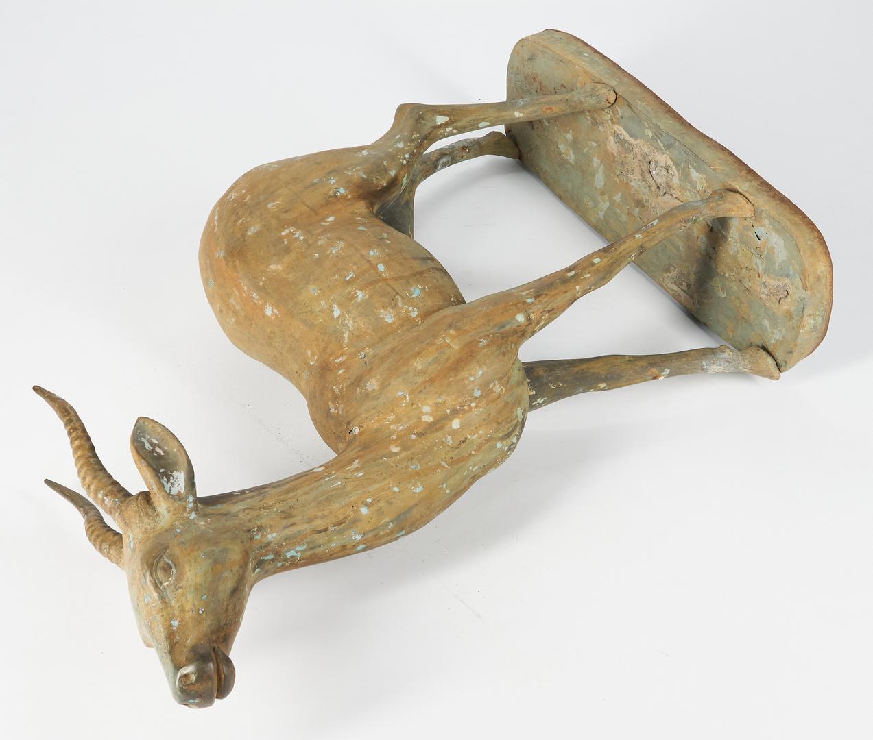Lot 406: Bronze Garden Antelope Sculpture