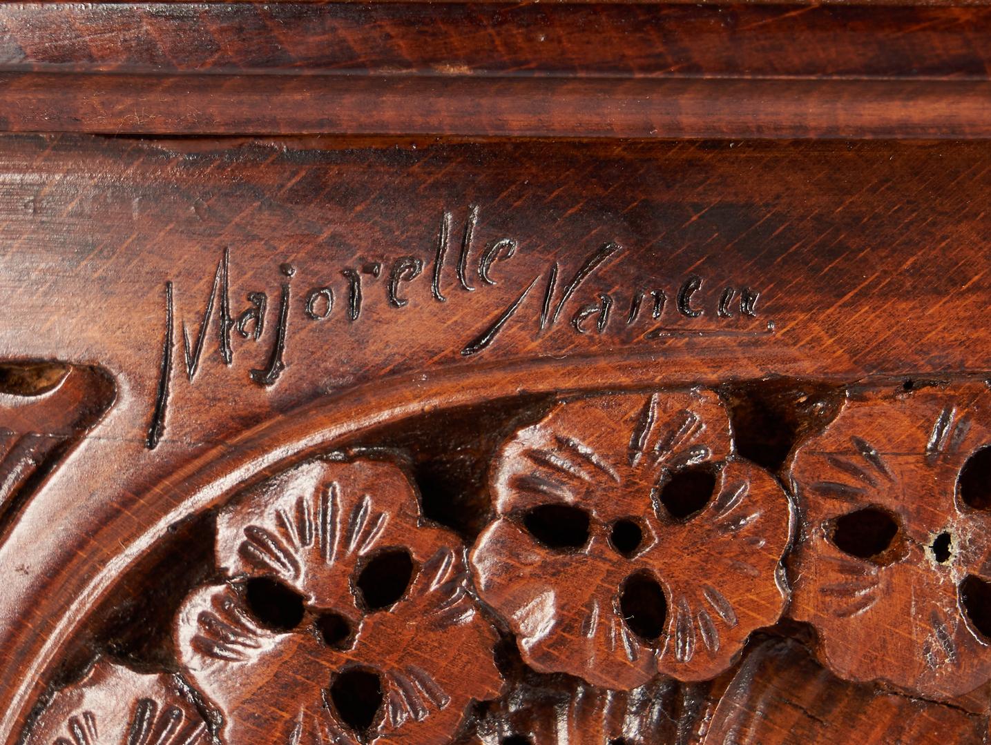 Lot 409: Majorelle Signed Art Nouveau Round Aubepine Table