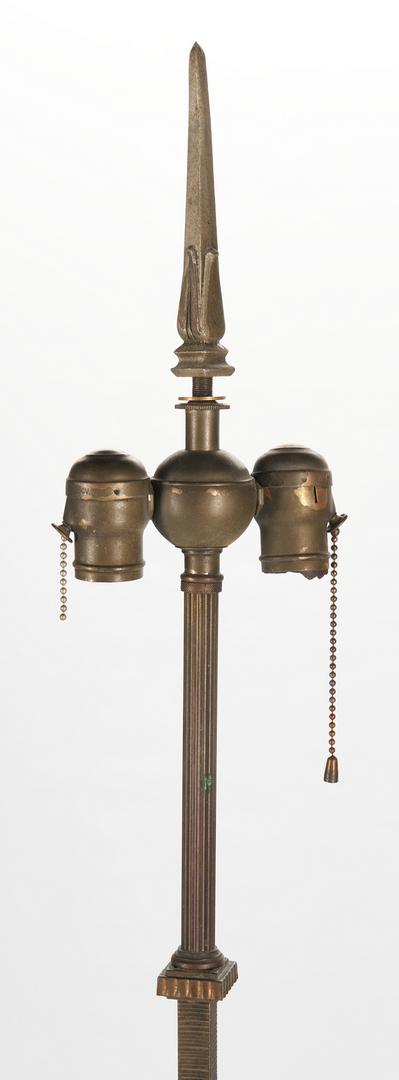 Lot 411: Art Deco Floor Lamp w/ Mica Shade