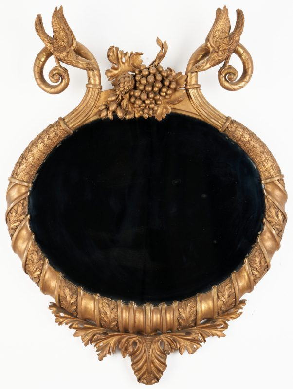 Lot 413: Classical Oval Mirror