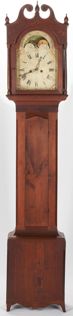 Lot 416: Ohio Valley Inlaid Tall Case Clock