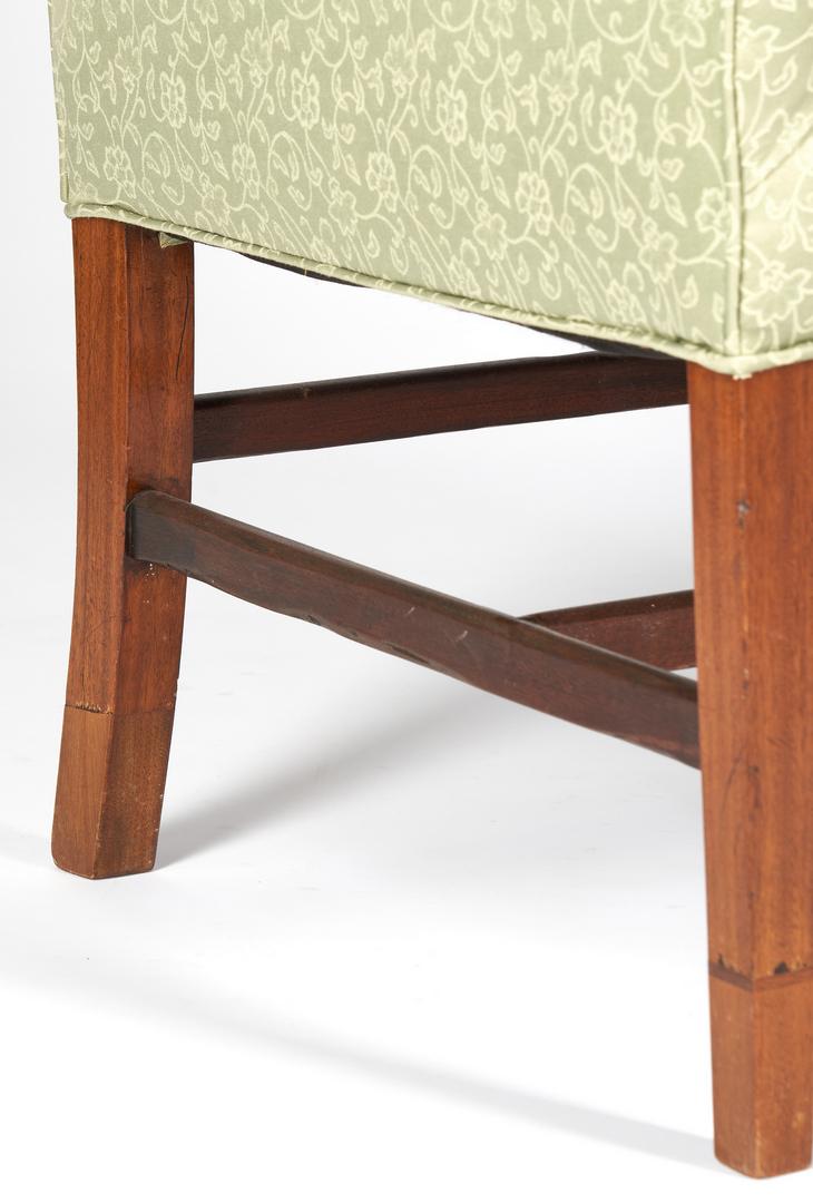 Lot 418: 2 CT Federal Chairs attr. Kneeland & Adams plus Hepplewhite Easy Chair