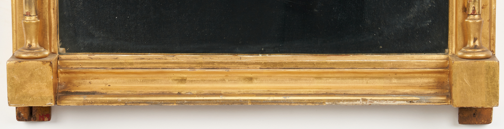 Lot 420: Sheraton Mirror with Pate sur Pate Panels