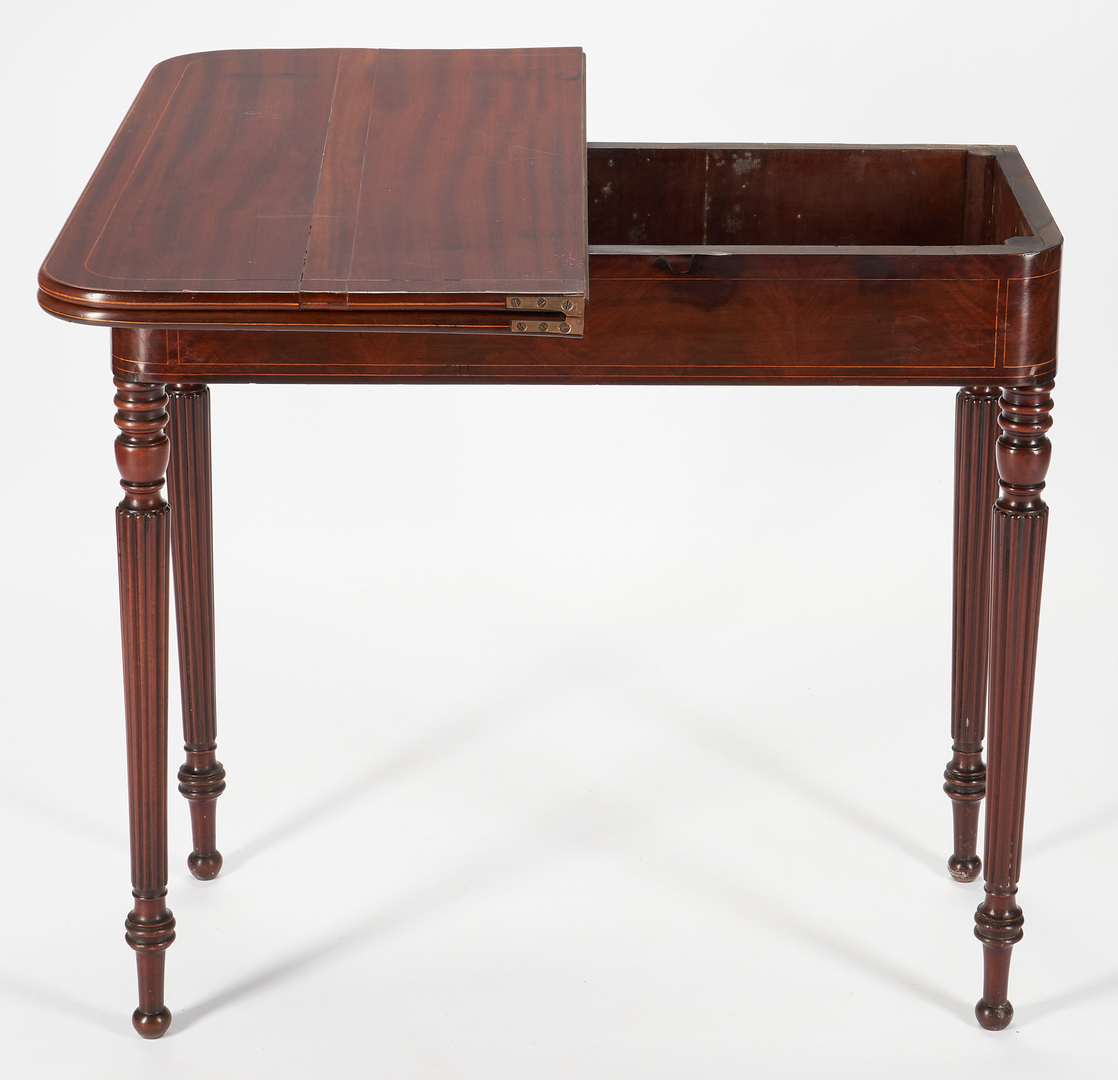 Lot 422: Massachusetts Federal Inlaid Game Table